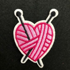 Motif Knitted Heart Iron on