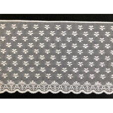 Netted pattern Lace White 1 metre