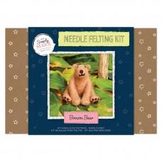 Felting Kit Brown Bear