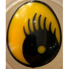 Oval Safety Eye Yellow 30x25mm