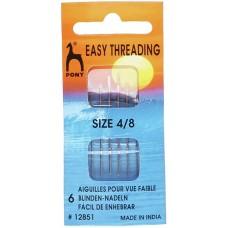 Pony Easy Thread Needles 4/8