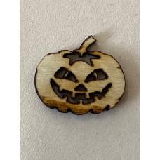 Wooden Pumpkin Button