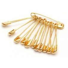10 Safety pins Small Gold
