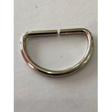 Metal D Ring Silver