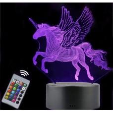 Unicorn LED 3D Night Light