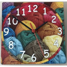 Square Wooden Wool Clock